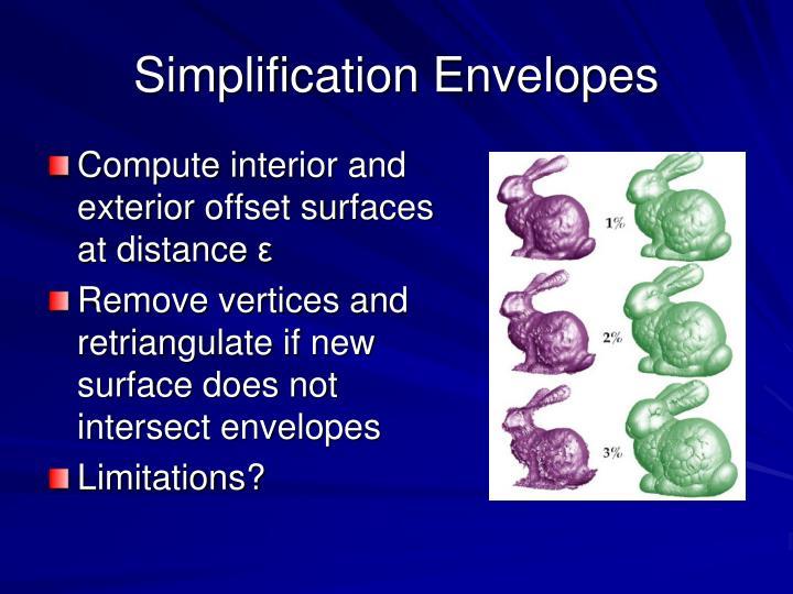 Simplification Envelopes