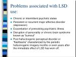 problems associated with lsd use