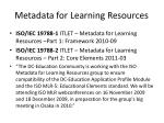 metadata for learning resources