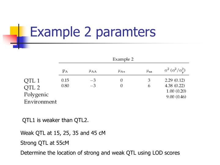 Example 2 paramters