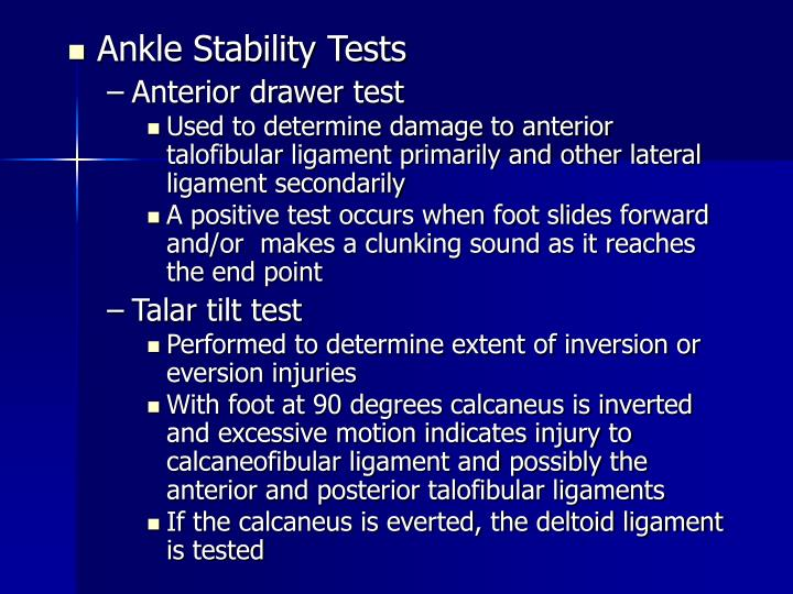 Ankle Stability Tests