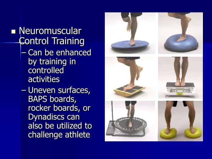 Neuromuscular Control Training
