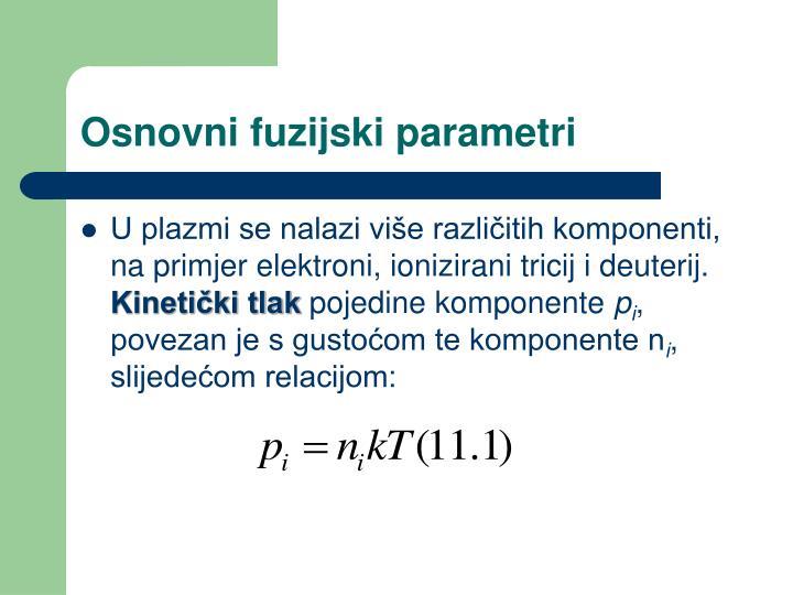 Osnovni fuzijski parametri