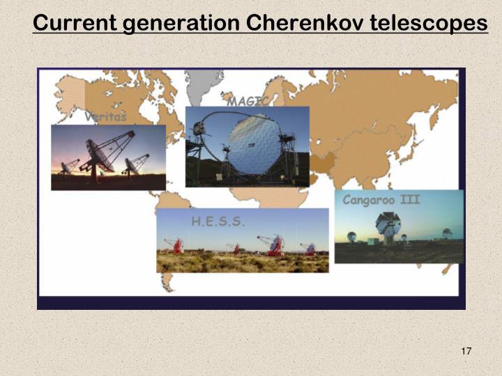 Current generation Cherenkov telescopes