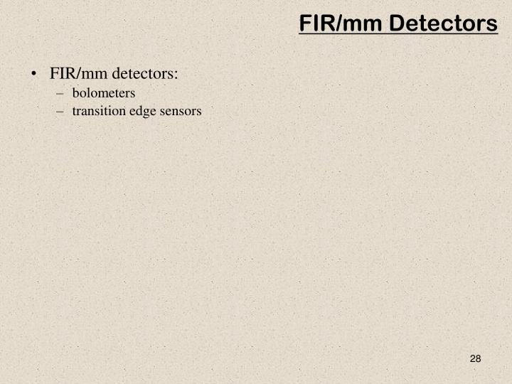 FIR/mm Detectors