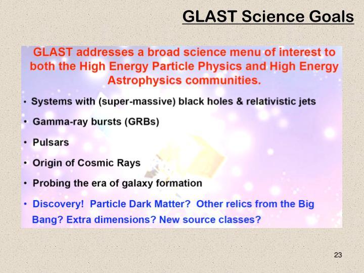 GLAST Science Goals