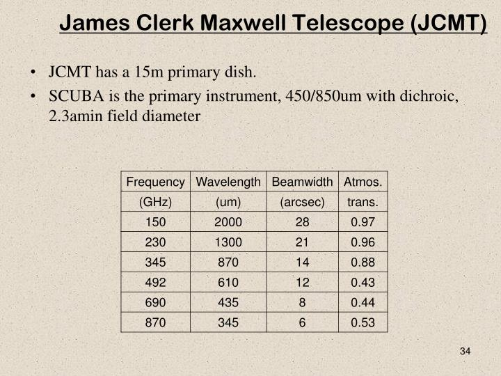 James Clerk Maxwell Telescope (JCMT)