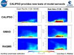 calipso provides new tests of model aerosols