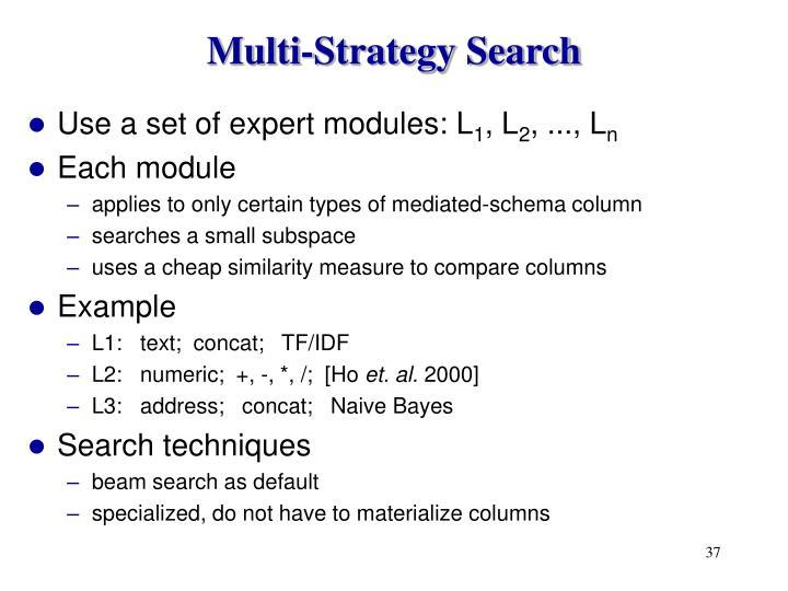 Multi-Strategy Search
