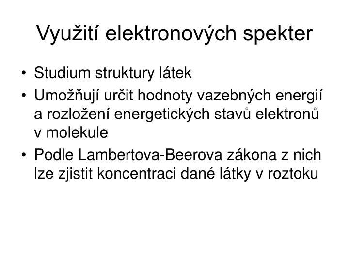 Využití elektronových spekter