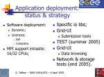 application deployment status strategy