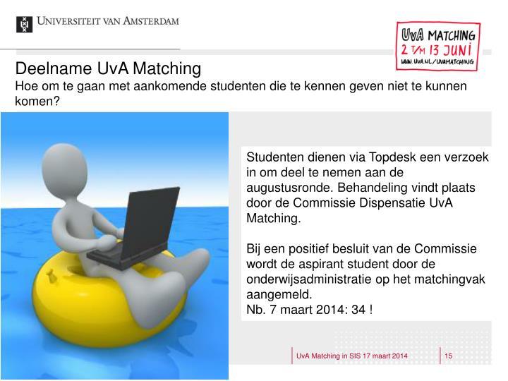 Deelname UvA Matching