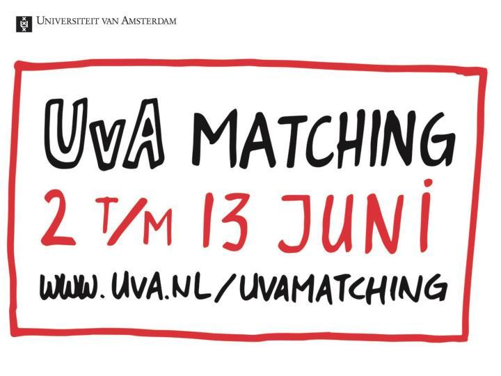 Kick off UvA Matching 26 september 2013