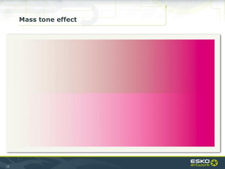 Mass tone effect