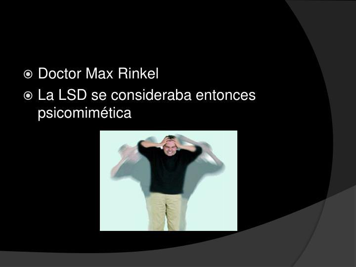 Doctor Max Rinkel