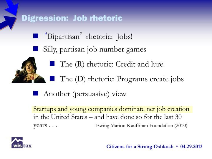 Digression:  Job rhetoric