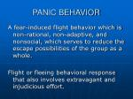 panic behavior