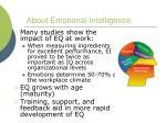about emotional intelligence