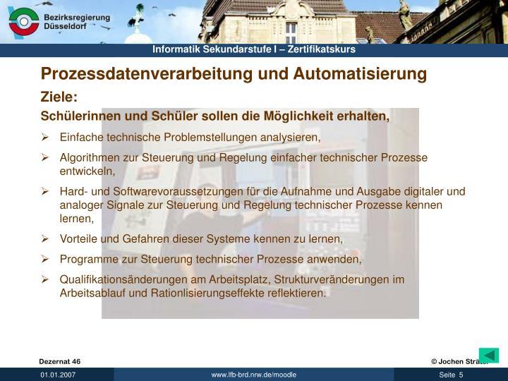 Prozessdatenverarbeitung und Automatisierung