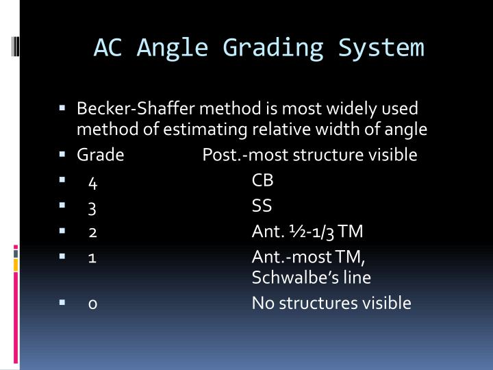 AC Angle Grading System