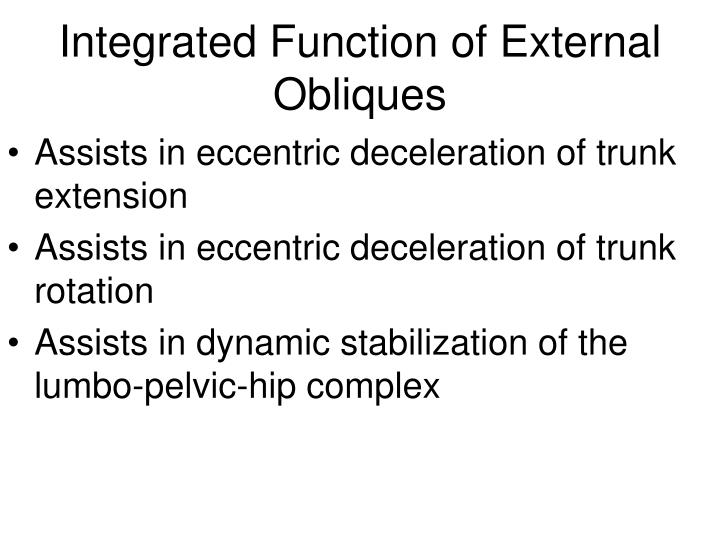 Integrated Function of External Obliques