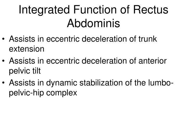 Integrated Function of Rectus Abdominis