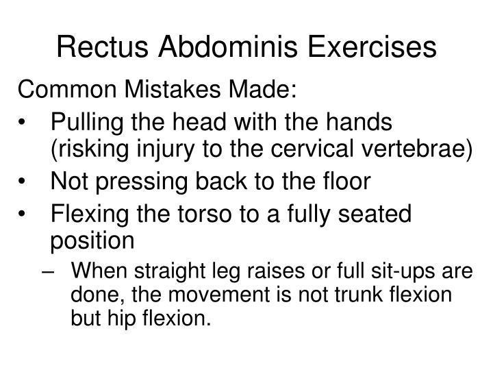 Rectus Abdominis Exercises