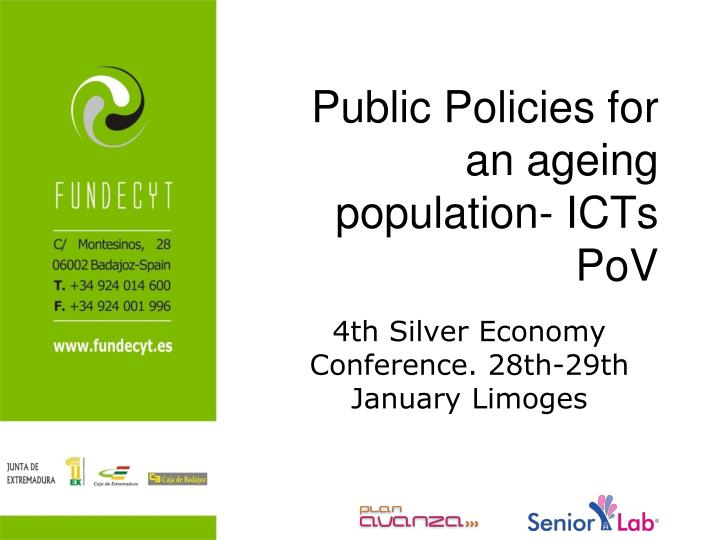public policies for an ageing population icts pov n.