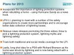 plans for 2013