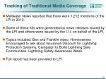 tracking of traditional media coverage