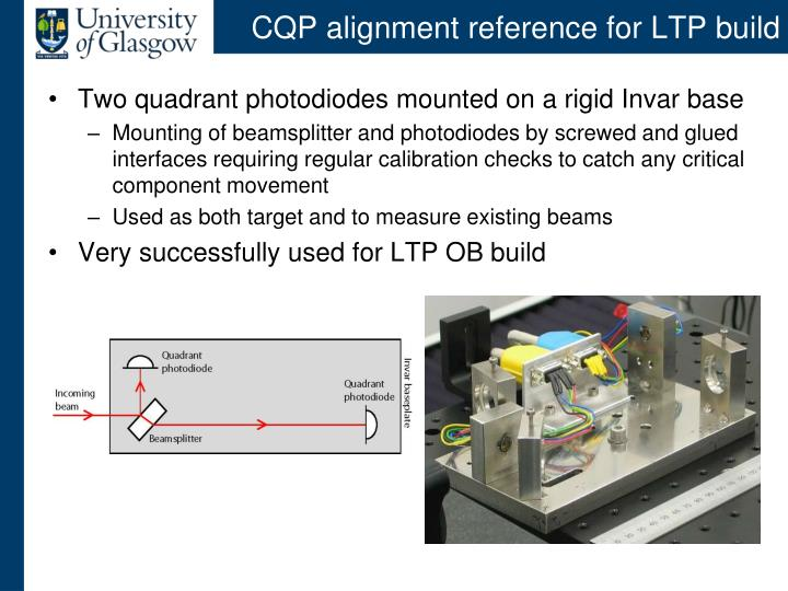 CQP alignment reference for LTP build