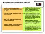 alf f blf f standard features benefits