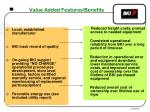 value added features benefits