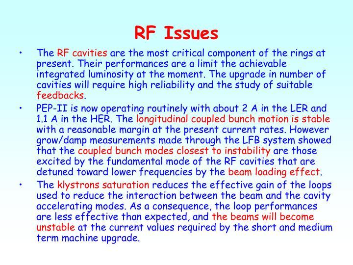 RF Issues