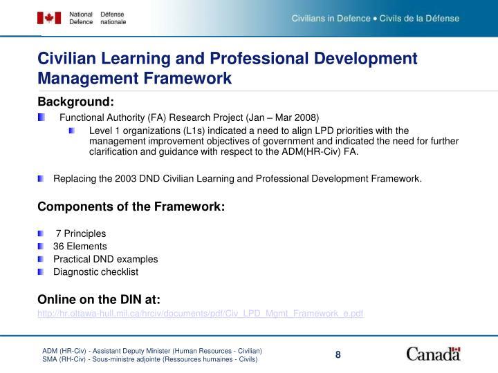 Civilian Learning and Professional Development Management Framework