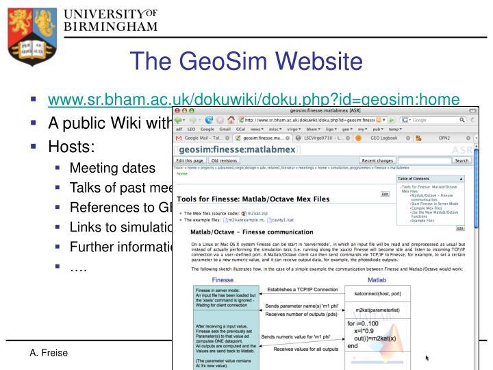 The geosim website
