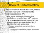 review of functional anatomy2