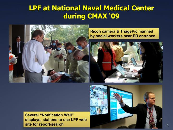 LPF at National Naval Medical Center during CMAX '09