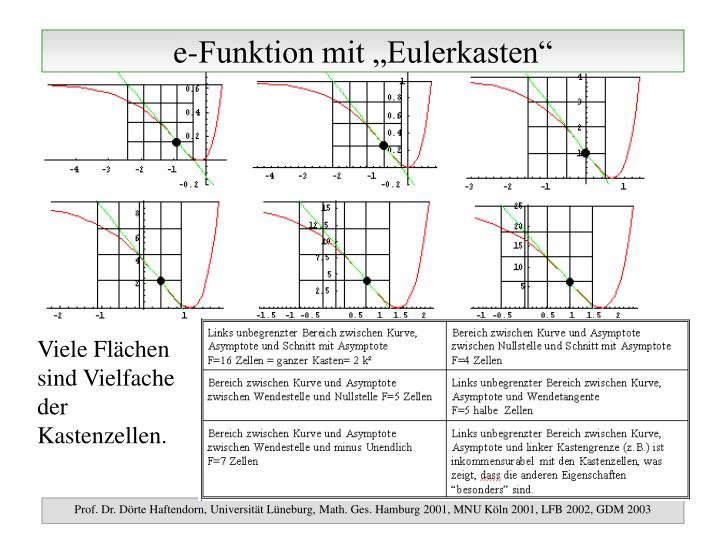 "e-Funktion mit ""Eulerkasten"""