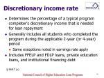 discretionary income rate
