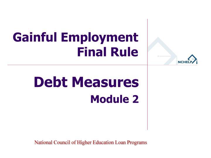 gainful employment final rule n.