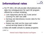 informational rates