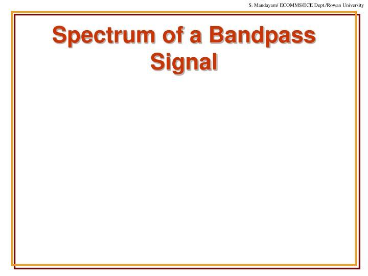 Spectrum of a Bandpass Signal