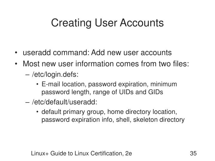 Creating User Accounts