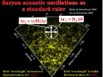 baryon acoustic oscillations as a standard ruler