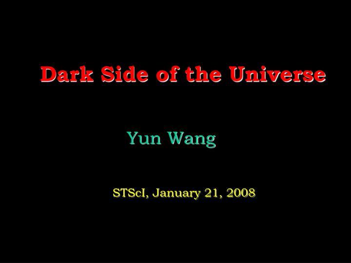 dark side of the universe n.