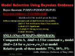 model selection using bayesian evidence