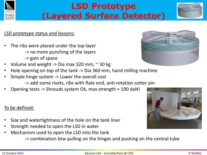 lsd prototype layered surface detector n.