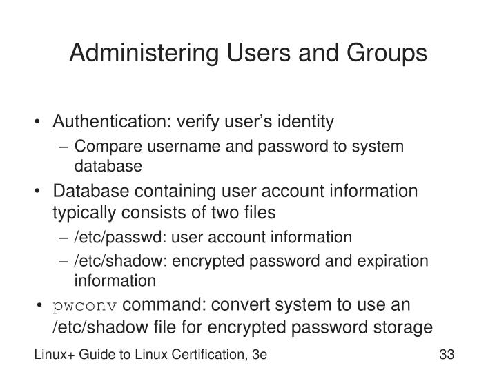 Administering Users and Groups
