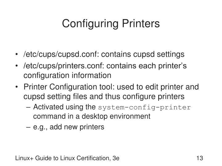 Configuring Printers